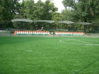 Városligeti Sportcentrum, műfüves futsalpálya rugalmas aljzattal